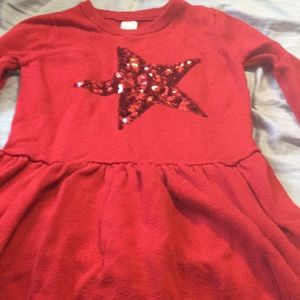 Girls star sweater dress
